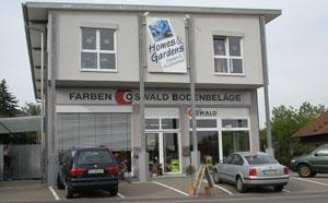 Geschäftsgebäude der Firma Farben Oswald